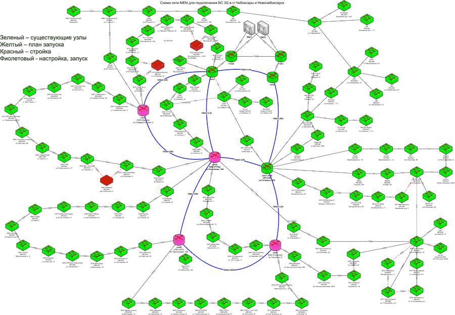 Чебоксары и Новочебоксарск, схема конца 2012 года